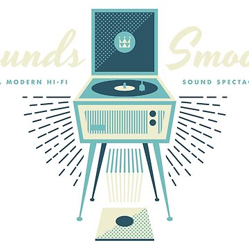 Sounds Smooth Dansette Hifi (colour) by wombatworld