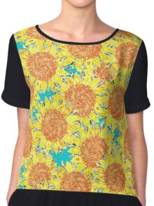 sunflower field Chiffon Top
