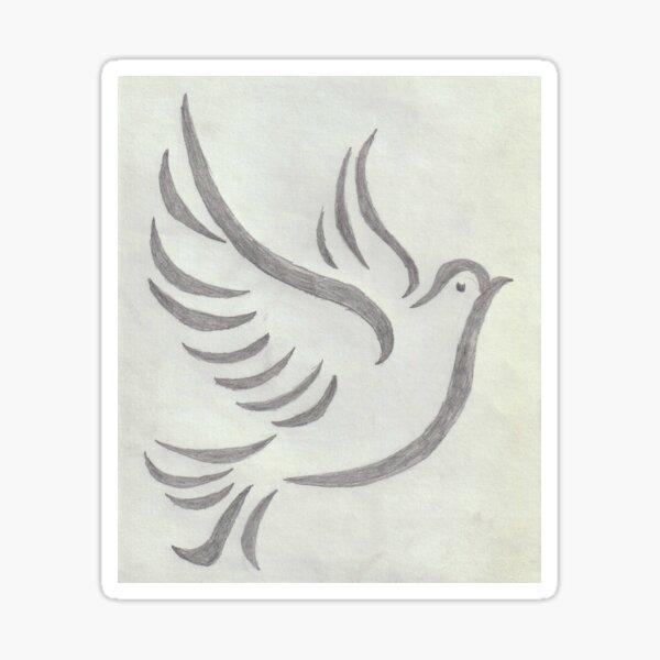 Peace Dove Sticker