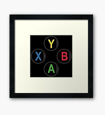 Xbox One Buttons - Minimalist Framed Print