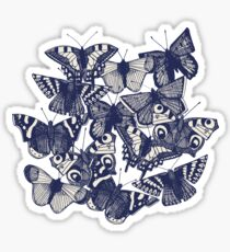 butterfly pale coral Sticker