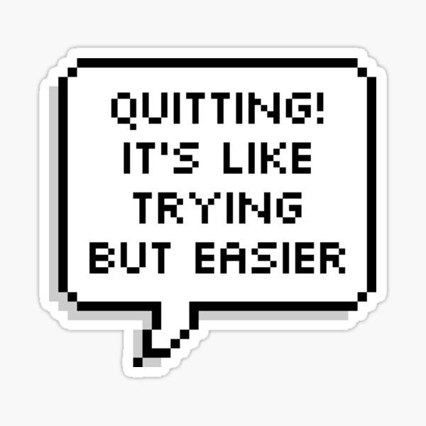 "OWL HOUSE Eda ""Quitting""  Sticker"