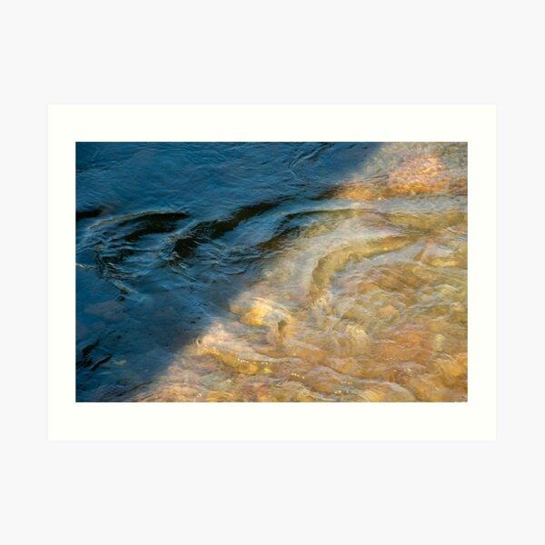 Sun and Shadow, Talvera River, Bolzano/Bozen, Italy Art Print