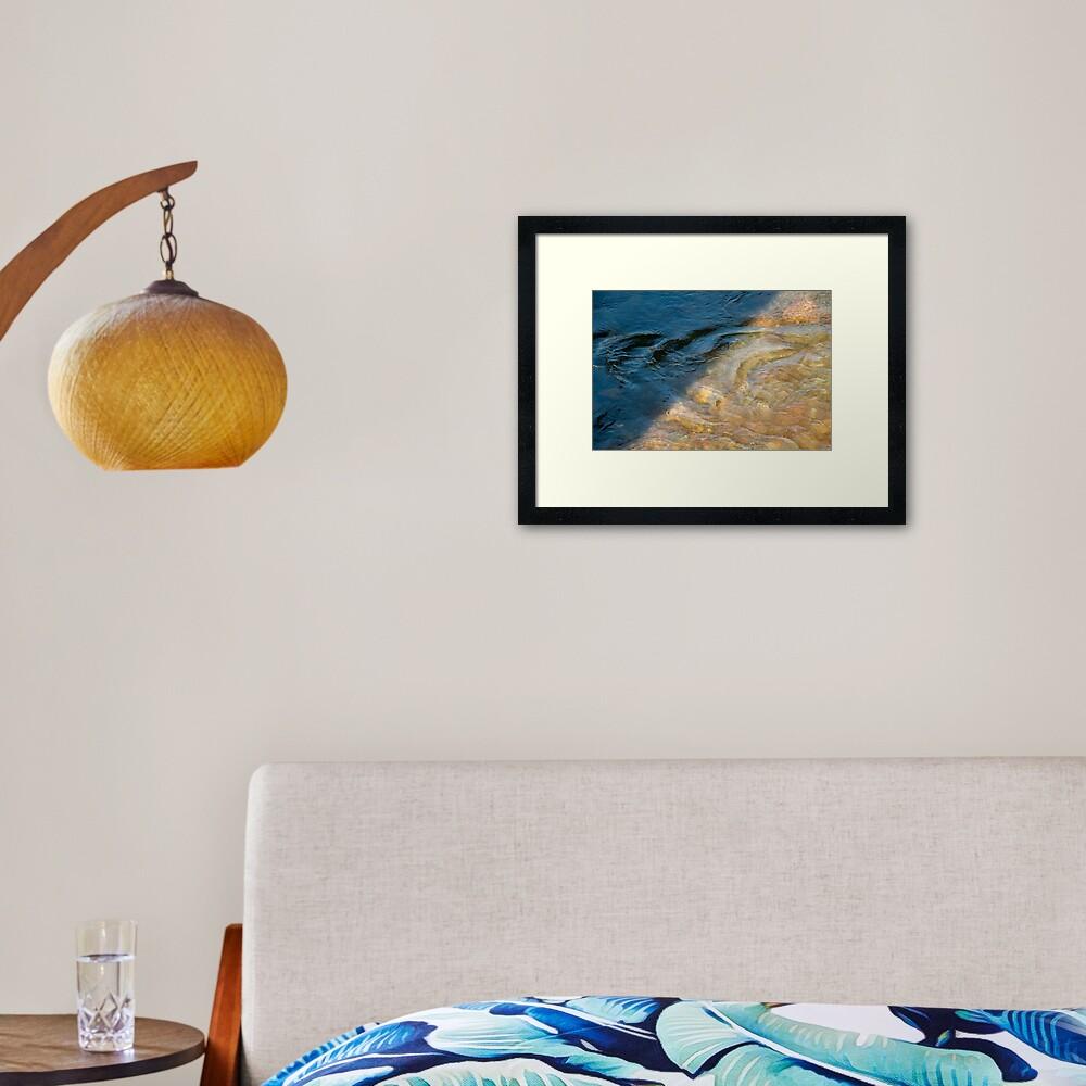 Sun and Shadow, Talvera River, Bolzano/Bozen, Italy Framed Art Print