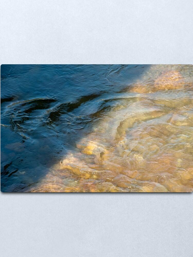Alternate view of Sun and Shadow, Talvera River, Bolzano/Bozen, Italy Metal Print