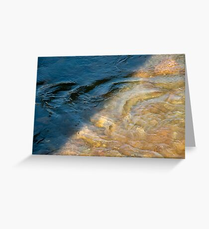 Sun and Shadow, Talvera River, Bolzano/Bozen, Italy Greeting Card