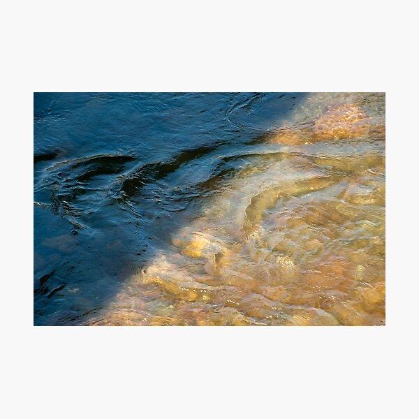 Sun and Shadow, Talvera River, Bolzano/Bozen, Italy Photographic Print