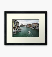 Scene on the Grand Canal, Venice Framed Print