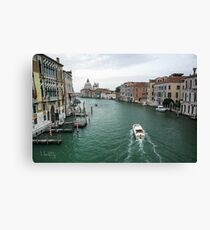 Scene on the Grand Canal, Venice Canvas Print