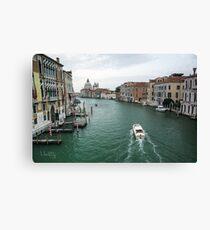 Scene on the Grand Canal, Venice Canvas Print