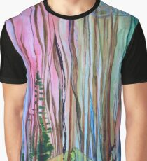 Abstract Forest Landscape Graphic T-Shirt