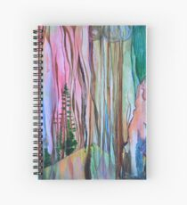 Abstract Forest Landscape Spiral Notebook