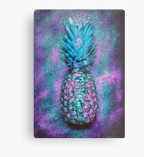Glam Pineapple Metal Print
