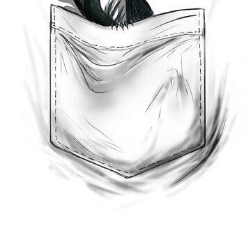 Little Dragon In My Pocket 1 - Black by Jamaal-Raoof