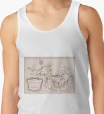 Vintage Map of The Great Lakes (1757) Tank Top
