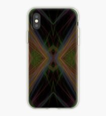 Fractal Abstract Psychedelic Black Energy Waves iPhone Case