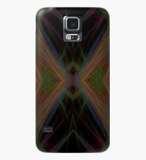 Fractal Abstract Psychedelic Black Energy Waves Case/Skin for Samsung Galaxy