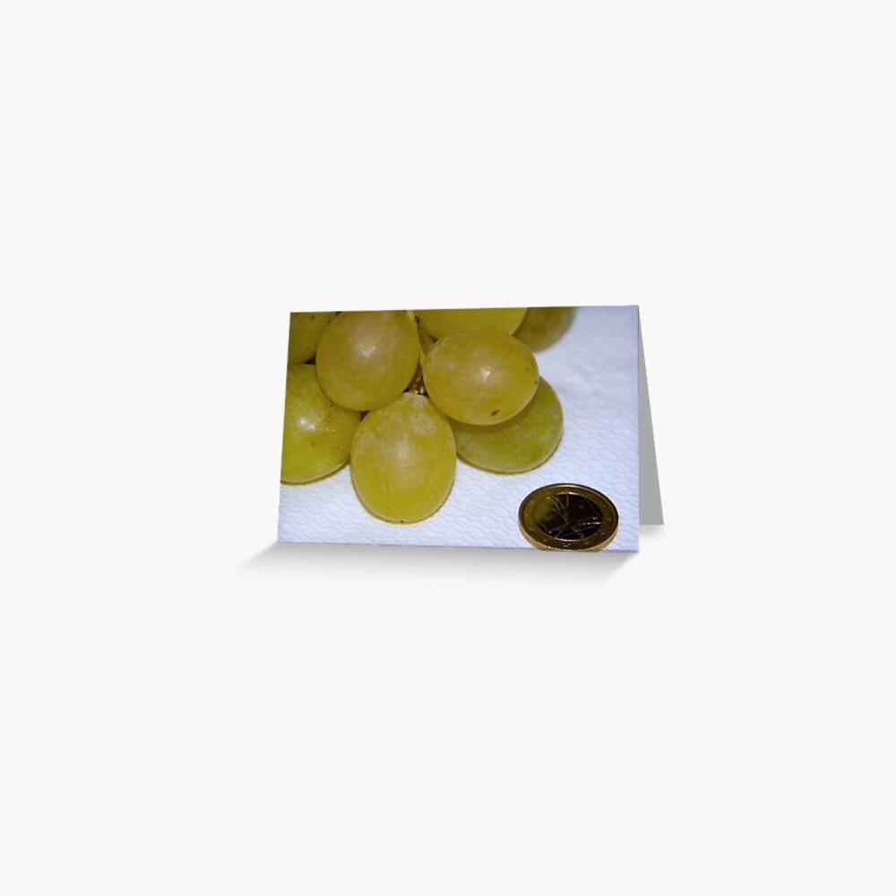 Monster Moscato grapes, Bolzano/Bozen, Italy Greeting Card