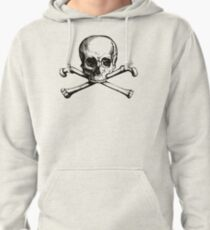 Skull and Crossbones | Black and White Pullover Hoodie