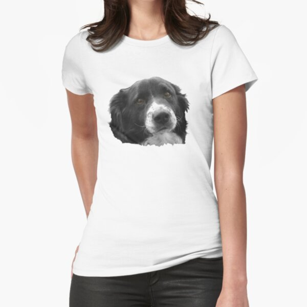 Border Collie and the Equal Time Message Fitted T-Shirt
