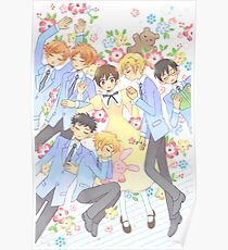 ouran high school host club posters redbubble