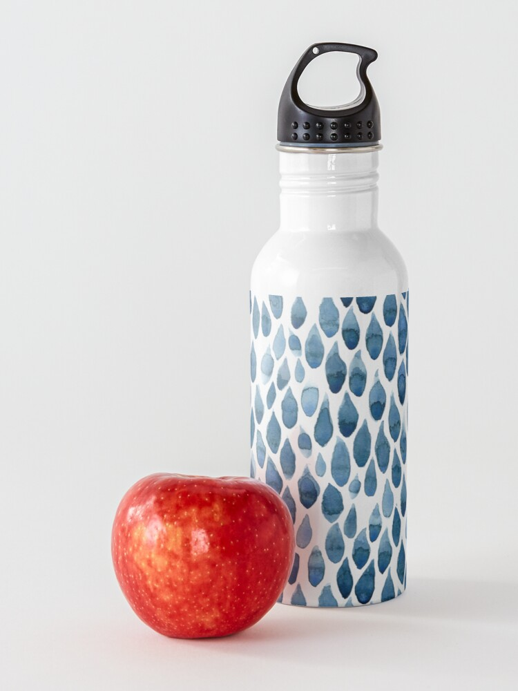 Alternate view of Water drops watercolor painting Water Bottle