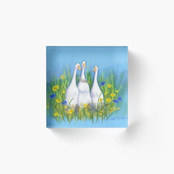 Nicky's Ducks Acrylic Block
