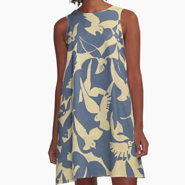 Feuillets de l'Élégance Féminine Vintage Print  A-Line Dress