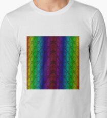 Bright Neon Rainbow Python Vertical Snake Skin T-Shirt