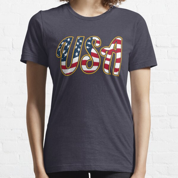 USA Patriotic Red White and Blue Stars and Stripes Essential T-Shirt