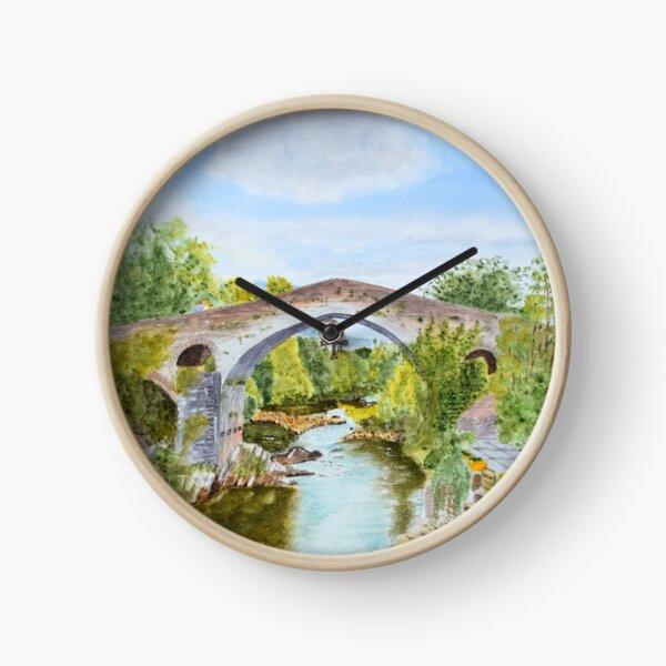The Bridge at Cangas 2 by John Rees Clock