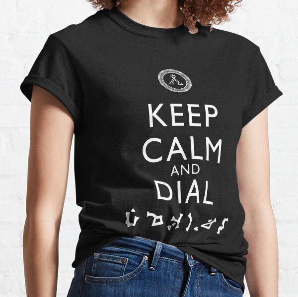 Gardez votre calme et cadran de la Terre (blanc) T-shirt classique