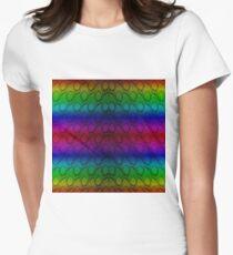 Bright Metallic Rainbow Python Snake Skin Horizontal Reptile Scales T-Shirt
