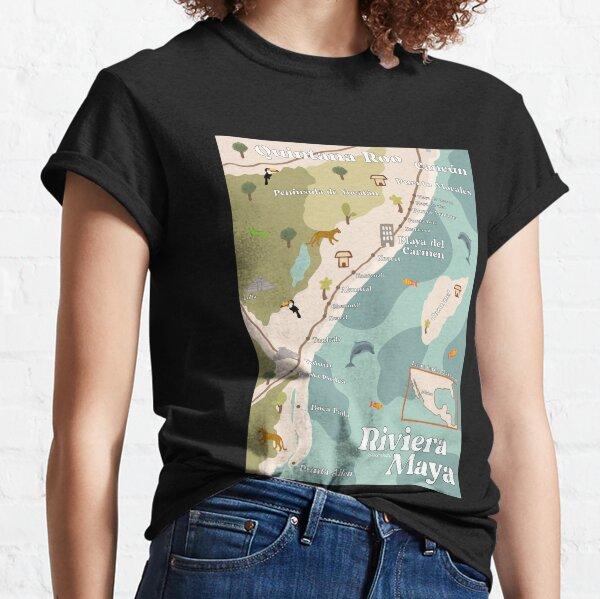 Riviera Maya Map Classic T-Shirt
