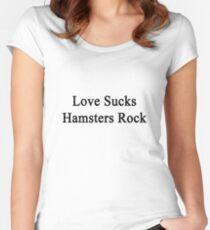 Love Sucks Hamsters Rock  Women's Fitted Scoop T-Shirt