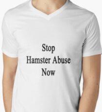 Stop Hamster Abuse Now Men's V-Neck T-Shirt