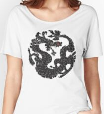 Oriental Dragon in Black 2 Women's Relaxed Fit T-Shirt
