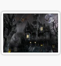 Dark Haloween Haunted House Sticker