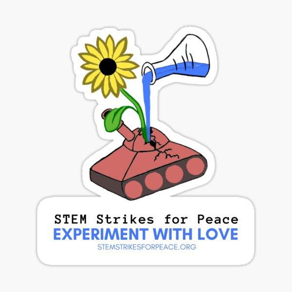 STEM Strikes for Peace Sticker