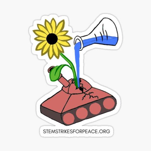 STEM Strikes for Peace Logo Sticker