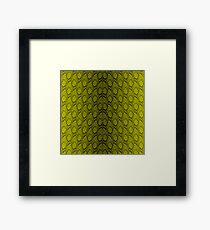 Golden Yellow and Black Python Snake Skin Reptile Scales Framed Print