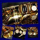 Sax Magic - Saxophone Collage von BlueMoonRose