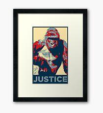 Lámina enmarcada Harambe: Justicia