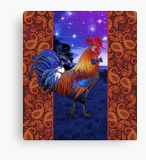 Rooster with a bowtie Canvas Print