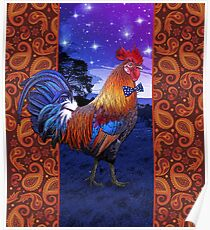 Rooster with a bowtie Poster
