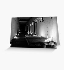 WWII Bunker in B&W Candlelight Greeting Card