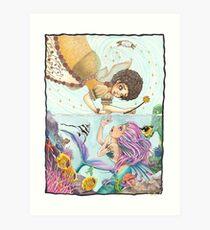 The Fairy and Mermaid Art Print