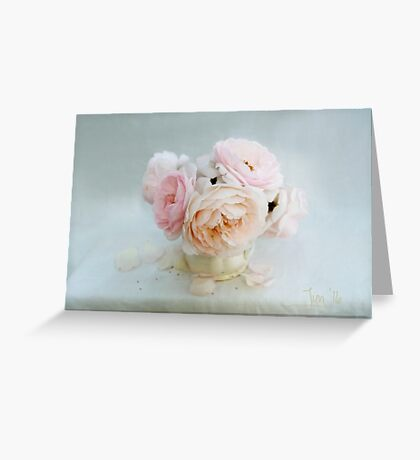 Bouquet of Pastel June Roses Greeting Card