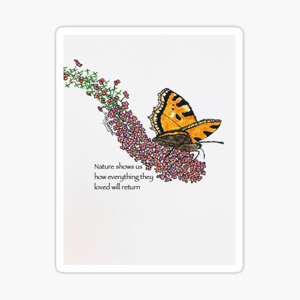 Butterfly in Nature Sticker