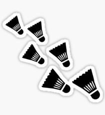 Badminton Shuttlecocks Sticker